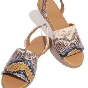 Snakeprint Sandals